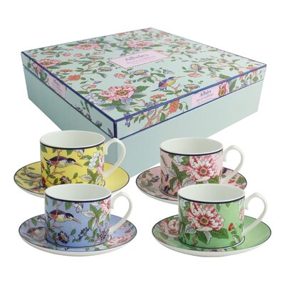 Aynsley China Pembroke Classic 8 Piece Bone China Cup and Saucer