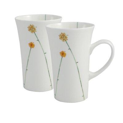 Aynsley China Daisy Chain 2 Piece Bone China Latte Mug Set