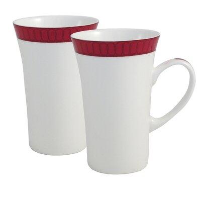 Aynsley China Madison 2 Piece Bone China Latte Mug Set