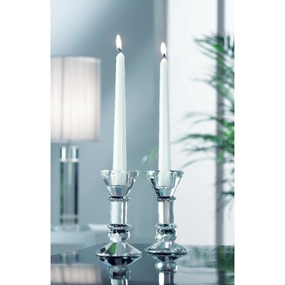 Aynsley China Galway 2 Piece Crystal Candlestick Set