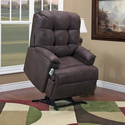 5600 Series Power Lift Assist Recliner Upholstery: Bella Crypton - Storm, Moveable Infrared Heat: No, Vibration and Heat: None