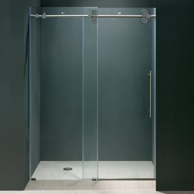 Vigo Elan 44 to 48-in. Frameless Sliding Shower Door  with .375-in. Clear Glass and Chrome Hardware