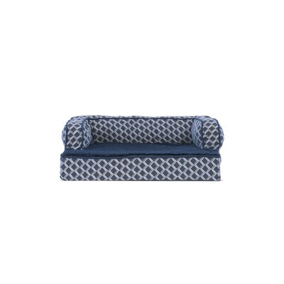 """Betsy Comfy Couch Orthopedic Dog Sofa Size: 44"""" W x 35"""" D x 9"""" H, Color: Diamond Blue"""