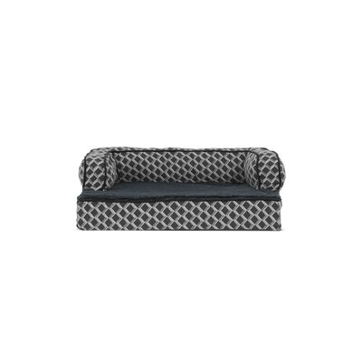 """Betsy Comfy Couch Orthopedic Dog Sofa Size: 44"""" W x 35"""" D x 9"""" H, Color: Diamond Gray"""