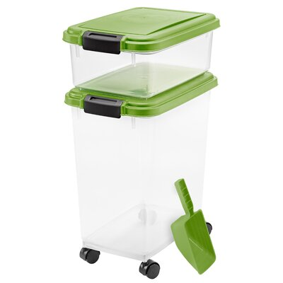 Ainsworth 3 Piece Airtight Pet Food Container Color: Peridot