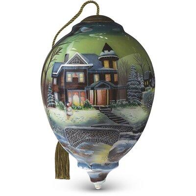 "Homeward Bound"" Princess Shaped Glass Ornament by Jim Hansel"