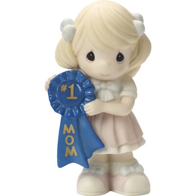 Mother's Day Gifts #1 Mom Bisque Porcelain Figurine Girl