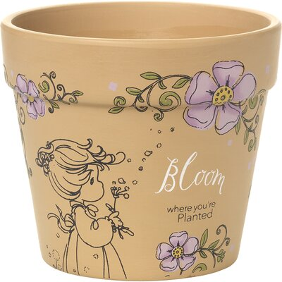 Bloom Where You'?re Planted High Yard Dcor Terracotta Pot Planter