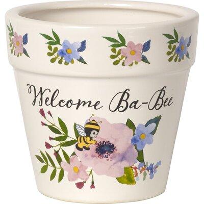 Welcome Ba-Bee Decorative Ceramic Flower Yard Dcor Pot Garden