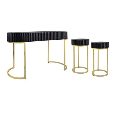 Ariah 3 Piece Console Table Set with Side Tables