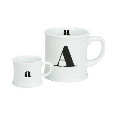 The DRH Collection Post Script 2 Piece Letter Espresso Jar and Mug Set
