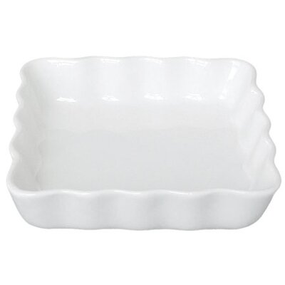 The DRH Collection BIA Square Flan Dish