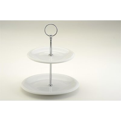 The DRH Collection Two Tiered Cake Stand in White