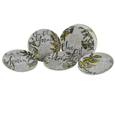 The DRH Collection Olive Oil Rosanna Salad and Dessert Plate Set