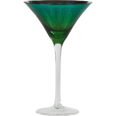 The DRH Collection Peacock Martini Glass