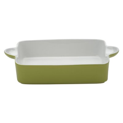 The DRH Collection Bia Scoop Large Rectangular Roaster in Lemon Grass