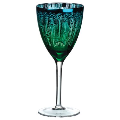 The DRH Collection Peacock Wine Glass