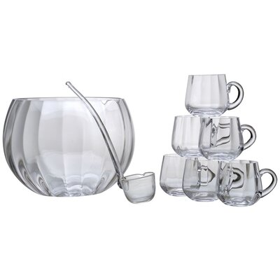 The DRH Collection 8-Piece Punch bowl Set