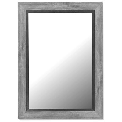 Hitchcock Butterfield Company Antique Weathered Grey / Black Liner Framed Wall Mirror