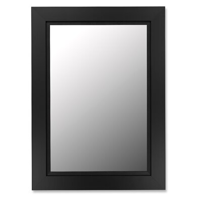 Hitchcock Butterfield Company Super Nuevo Black Satin / Black Liner Framed Wall Mirror