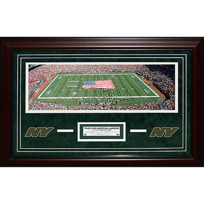 Steiner Sports New York Jets Meadowlands Panoramic Turf Collage Framed Memorabilia Plaque