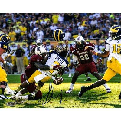 Jadeveon Clowney NCAA Hit vs Michigan Signed Photographic Print