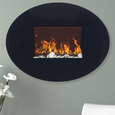 Oval Wall Mounted Electric Fireplace