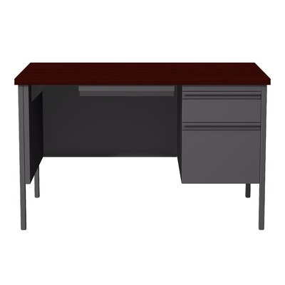 Hl10000 Series Desk Finish: Charcoal/Mahogany