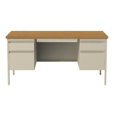 Hl10000 Series Desk Finish: Putty/Oak