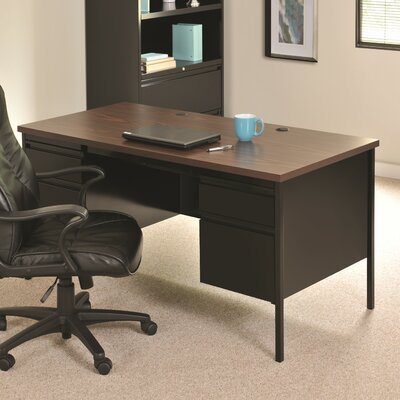 Hl10000 Series Desk Finish: Black/Walnut