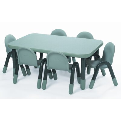 "Baseline 60"" x 30"" Rectangular Activity Table Side Finish: Teal Green, Height: 12"" H"