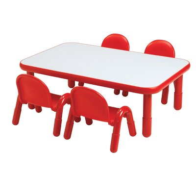 "Baseline 60"" x 30"" Rectangular Activity Table Side Finish: Candy Apple Red, Height: 12"" H"
