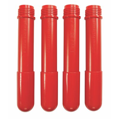 BaseLine Additional Table Leg Color: Candy Apple Red, Height: 24""