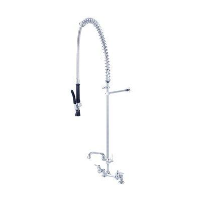 """Ledge Double Handle Kitchen Faucet with 6"""" Swivel Tube Spout"""