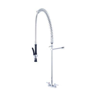 Cast Brass Double Handle Pre-Rinse Kitchen Faucet