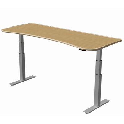 "Stretch-Out Focus Shape Standing Desk Size: 29"" H x 58"" W x 29"" D, Finish: Sugar Maple"