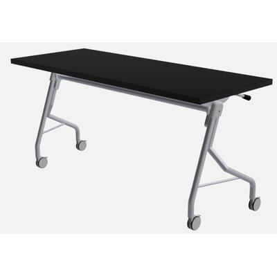 """48"""" W Medley Flip Top Training Table with Wheels Size: 29"""" H x 60"""" W x 24"""" D, Finish: Black"""