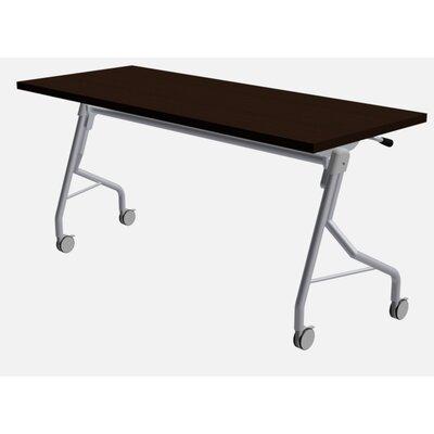 "48"" W Medley Flip Top Training Table with Wheels Size: 29"" H x 48"" W x 24"" D, Finish: Washington Cherry"
