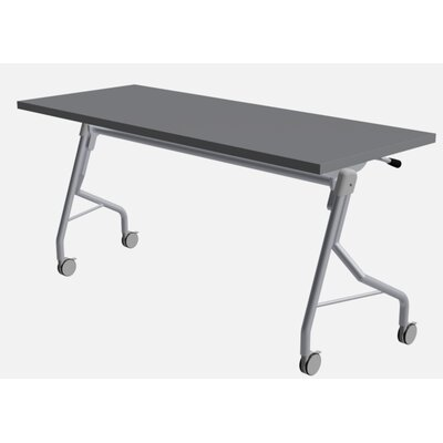 """48"""" W Medley Flip Top Training Table with Wheels Size: 29"""" H x 60"""" W x 24"""" D, Finish: Shaker Gray"""