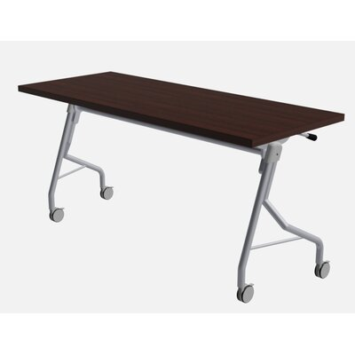 """48"""" W Medley Flip Top Training Table with Wheels Size: 29"""" H x 60"""" W x 24"""" D, Finish: Classic Mahogany"""