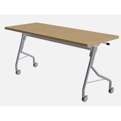 """48"""" W Medley Flip Top Training Table with Wheels Size: 29"""" H x 60"""" W x 24"""" D, Finish: Sugar Maple"""