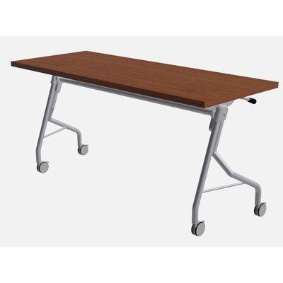 "48"" W Medley Flip Top Training Table with Wheels Size: 29"" H x 60"" W x 24"" D, Finish: Rainier Cherry"