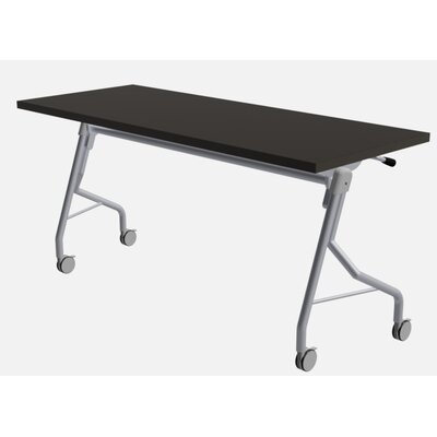 """48"""" W Medley Flip Top Training Table with Wheels Size: 29"""" H x 48"""" W x 24"""" D, Finish: Graphite"""