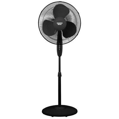 """16"""" Oscillating Pedestal Fan Color: Black"""
