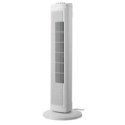 "30"" Oscillating Tower Fan Finish: White"