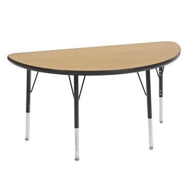 "48"" x 24"" Half Circle Activity Table Tabletop Finish: Maple / Maple, Leg Finish: Navy, Leg Type: Toddler Leg with Ball Glide"