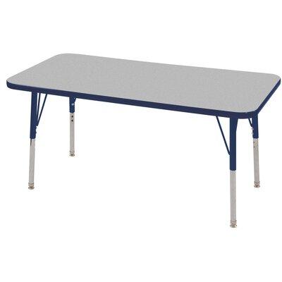 "7 Piece Rectangular Activity Table & 10"" Chair Set Leg Type: Toddler Leg with Swivel Glide"