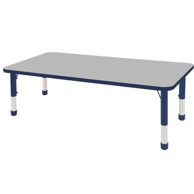 """9 Piece Rectangular Activity Table & 10"""" Chair Set Leg Type: Chunky Leg with Ball Glide, Size: 60"""" L x 30"""" W"""