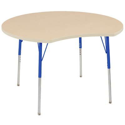 """Crescent Maple Top Thermo-Fused Adjustable 44.5"""" x 48"""" Novelty Activity Table Side Finish: Maple, Leg Type: Standard Swivel Glide"""