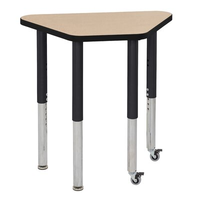 """Thermo-Fused Adjustable 18"""" x 30"""" Trapezoidal Activity Table Side Finish: Black, Leg Type: Standard Swivel Glide"""